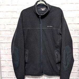 Arc'teryx Charcoal Polartec Fleece Jacket Sweater Large